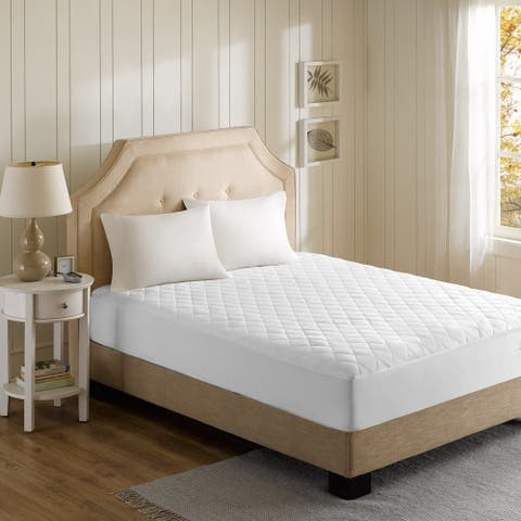 Beautyrest Cotton Blend Twin/ Twin X-Large Size Heated Electric Mattress Pad - White (As Is Item)