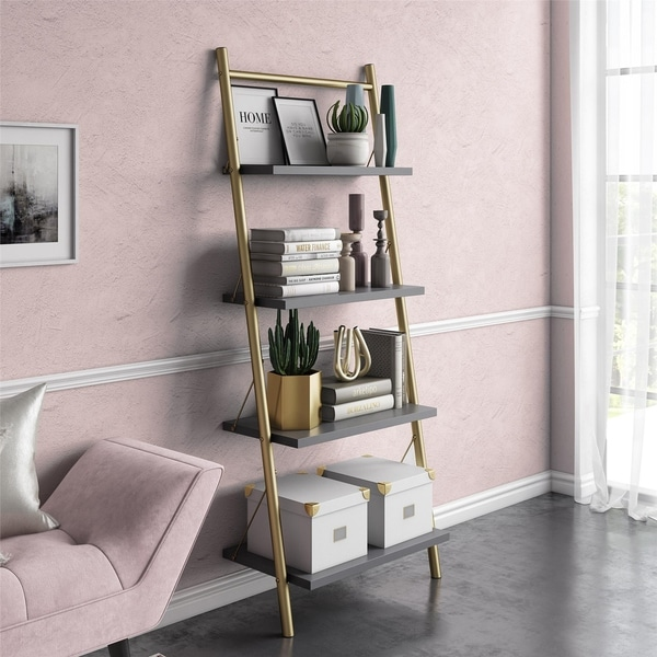 CosmoLiving by Cosmopolitan Nova 4 Shelf Ladder Bookcase