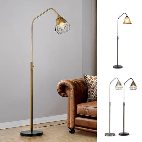 Midtown-S Metal Wire Shade LED Dimmable Floor Lamp