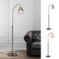 Midtown-S  Metal Wire Shade LED Dimmable Floor Lamp with Vintage LED Bulb Included