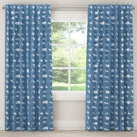 Skyline Furniture Unlined Curtains in Alphabet