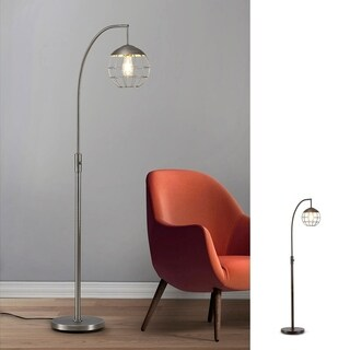 Metro-S Metal Wire Shade LED Dimmable Floor Lamp with Vintage LED Bulb