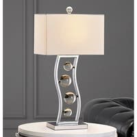 "Wave  27""H Crystal Balls Metal Table Lamp"