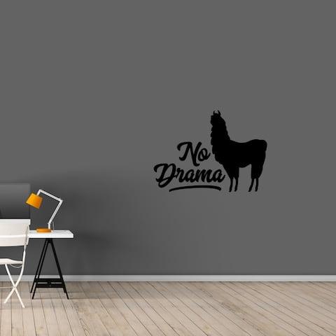 No Drama Llama Wall Decal