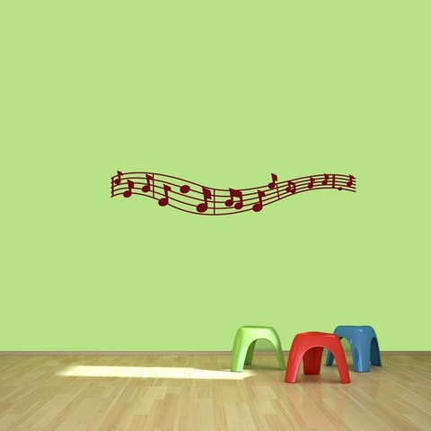 Music Staff and Notes Wall Decal