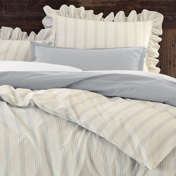 Porch & Den Fagode Organic Cotton Ruffled Comforter Set