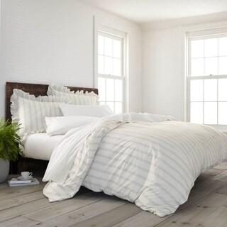 EcoPure Organic Comfort Wash Striped Duvet Cover Set