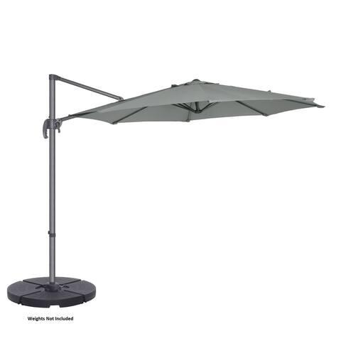 Villacera 10' Offset Patio Umbrella with 360 Degree Pole Vertical Tilt
