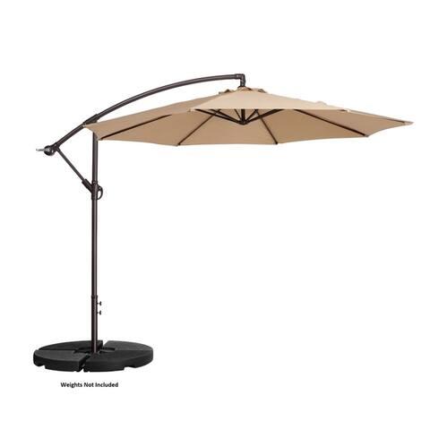 Villacera 10' Offset Patio Umbrella with 8 Steel Ribs Vertical Tilt