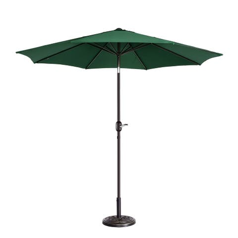 North Bend 9-foot Outdoor Patio Umbrella with 8 Ribs Auto Tilt by Havenside Home