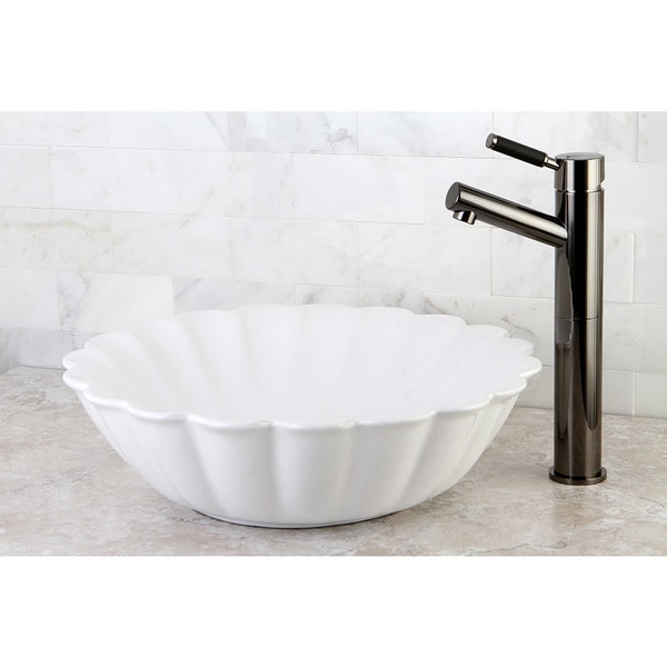 Vitreous White China Vessel Sink. Opens flyout.