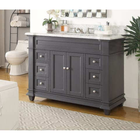 "48"" Kerianne Contemporary Modern Gray Bathroom Sink Vanity"