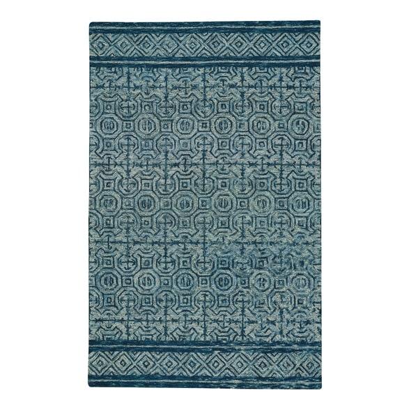 Capel Rugs Hand Tufted Shakta-Tanda Denim Wool Area Rug