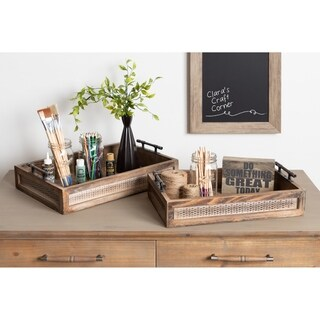 Kate and Laurel Bayport Wood Nesting Tray Set - 2 Piece