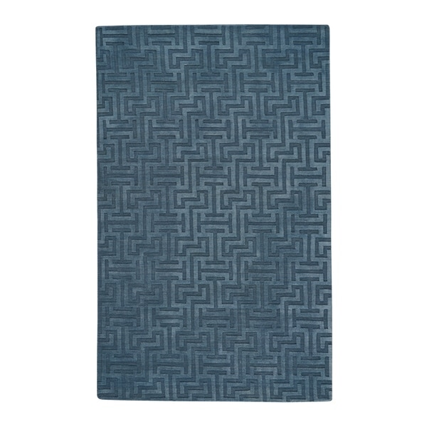 Capel Rugs Hand Loomed Area Verenda-Puzzle Blue New Zealand Wool Area Rug