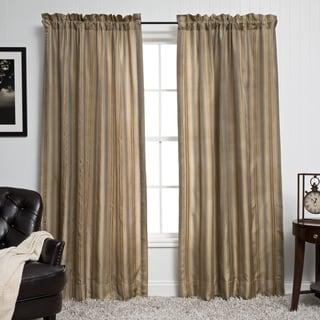Luxurious Silk Stripe 5-piece Window Ensemble