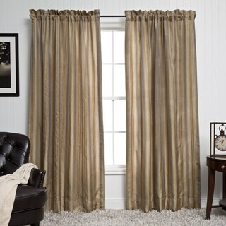 Luxurious Silk Stripe 5-piece Window Ensemble