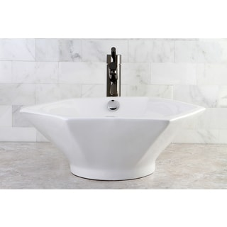 Metropolitan White China Vessel Sink