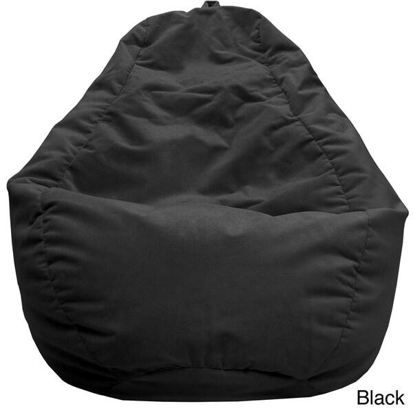 Shop Microfiber Suede Large Teardrop Bean Bag In Black As