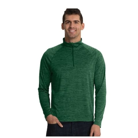 Charles River Mens Moisture Wicking Athletic Pullover, Forest