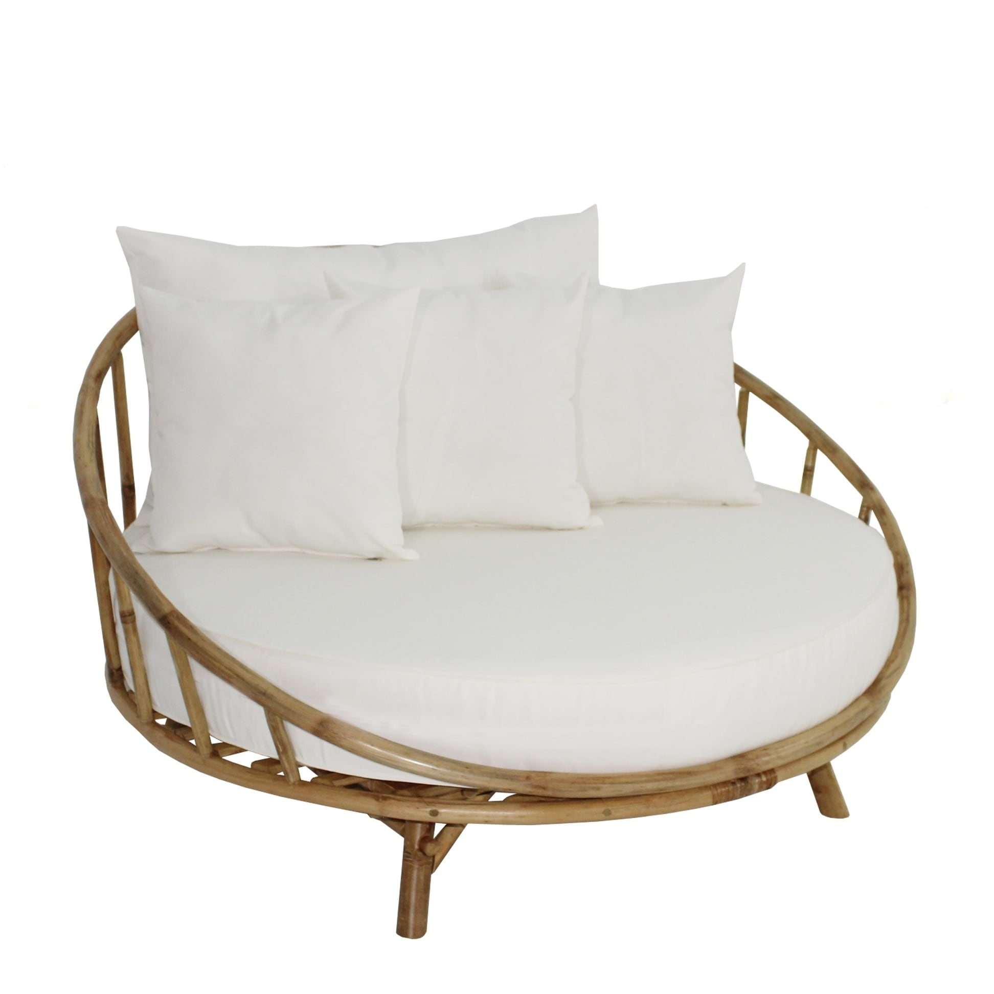 Bamboo Large Round Accent Sofa Chair