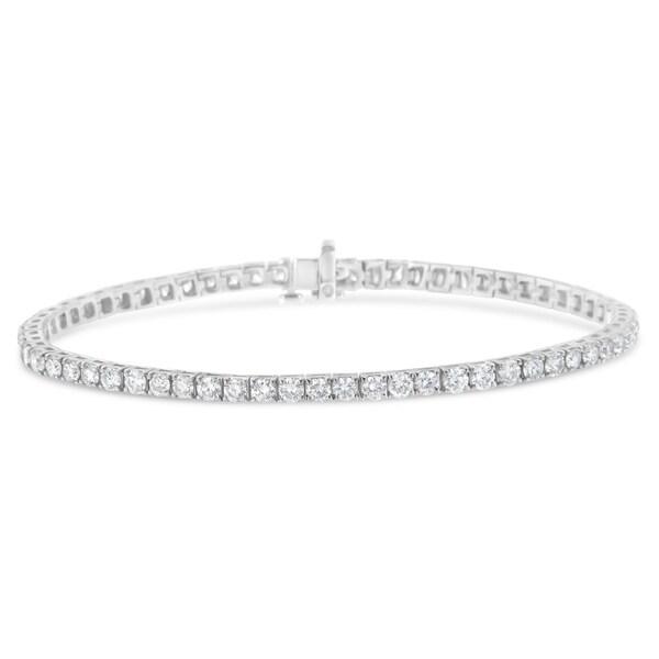 4d33c26e323f8 IGI Certified 14K White Gold 6ct. TDW Diamond Tennis Bracelet (H-I,I1)