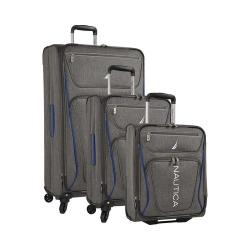 Nautica Expeditor 3-Piece Exp. Spinner Set (17in/21in/30in) Grey/Blue