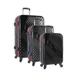 Nautica Naval Pier 3-Piece Hardside Spinner Set Black/Navy