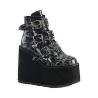 Women's Demonia Swing 105LBH Platform Ankle Boot Black Hologram
