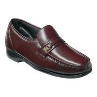 Men's Florsheim Milano Moc Toe Bit Loafer Burgundy Leather