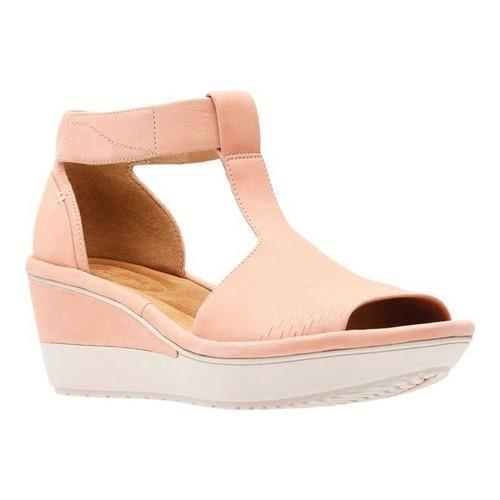 ba5186fc665 Shop Women s Clarks Wynnmere Avah Wedge Sandal Peach Nubuck - Free Shipping  Today - Overstock - 22128356
