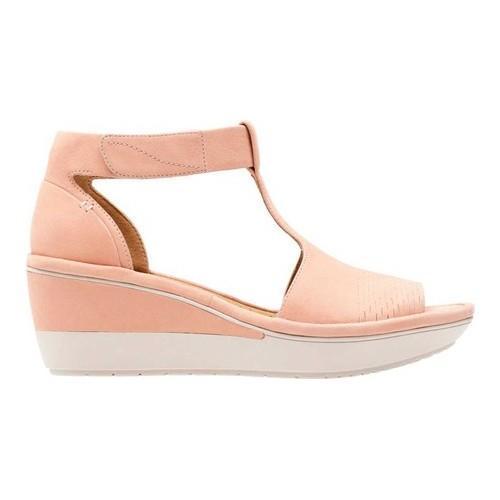 88736d7ad7f6 Shop Women s Clarks Wynnmere Avah Wedge Sandal Peach Nubuck - Free ...