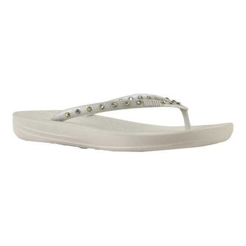 d6a60c16f03 Shop Women s FitFlop iQushion Crystal Ergonomic Flip-Flop Silver Crystal Snake  Embossed - Free Shipping On Orders Over  45 - Overstock.com - 22128386