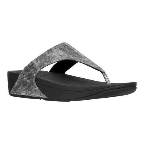 9cc19b6cf5e62 Shop Women s FitFlop Lulu Thong Sandal Black Shimmer Snake Print Faux  Leather - Free Shipping Today - Overstock - 22128389