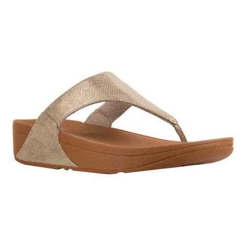 6b236febadaf0 Shop Women s FitFlop Lulu Thong Sandal Gold Shimmer Snake Print Faux Leather  - Free Shipping Today - Overstock - 22128390