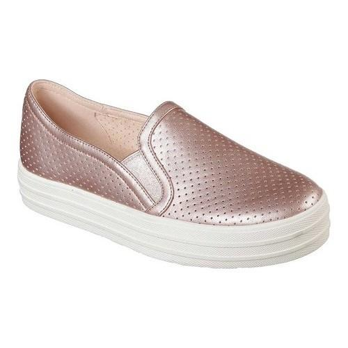 d5939792bc5a Shop Women s Skechers Double Up Metallic Breeze Slip-On Sneaker Rose Gold -  Free Shipping Today - Overstock - 22128518