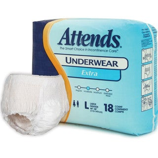 Attends Extra Protective Underwear (Case of 72)