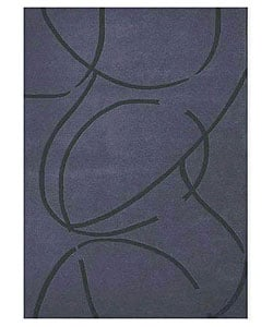 Hand-tufted Archie Blue Wool Rug (8' x 10'6)