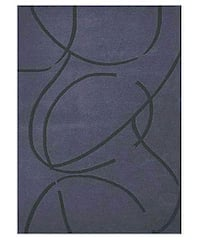 Hand-tufted Archie Blue Wool Rug - 8' x 10'6