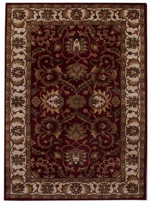 Hand-tufted Teresa Burgundy Wool Rug (8' x 10'6)