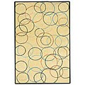 Hand-tufted Gold Circle Wool Rug - 8' x 10'6
