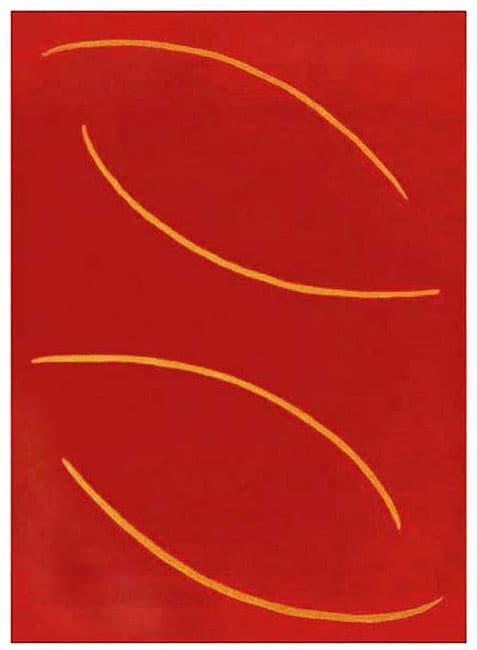Hand-tufted Regina Red Wool Rug (8' x 10'6)