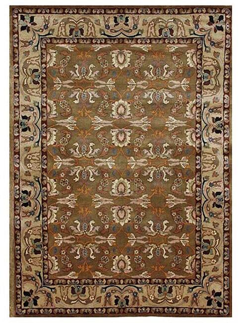 Hand-tufted Kamela Brown Wool Rug (5' x 8')
