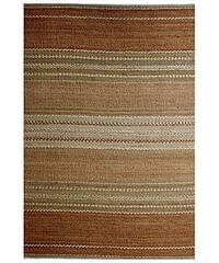 Hand-woven Sindhi Brown Jute Rug - 5' x 8'