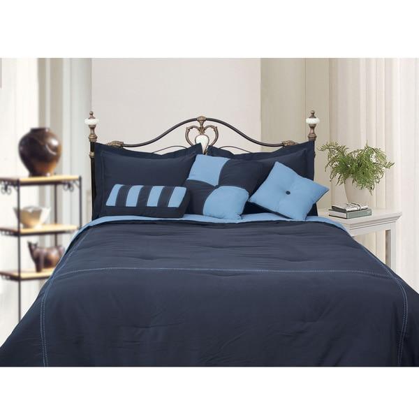 1 Piece Chocolate Plain Comforter Cotton 1000TC US Microfiber Fill Heavy Weight