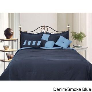 Microfiber Reversible 4-piece Comforter Set (More options available)