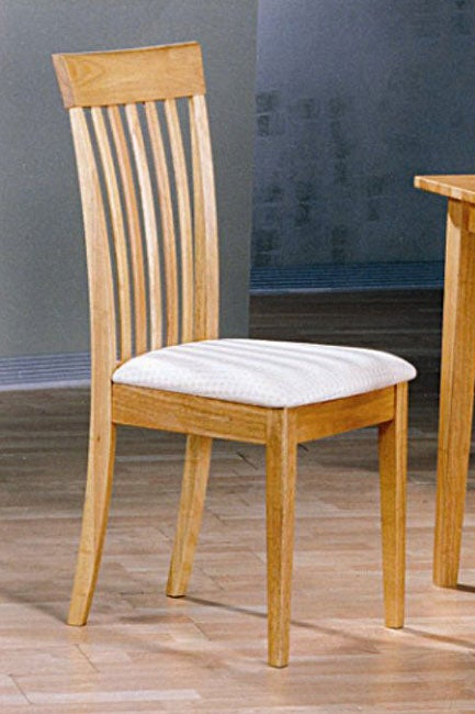 Natural Light Oak Dining Chairs (Set of 2)