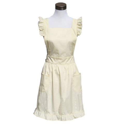 Sexy Victorian Apron with Pockets for Gift (Gold)