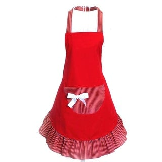 Women's Cake Apron with Pocket (Red)