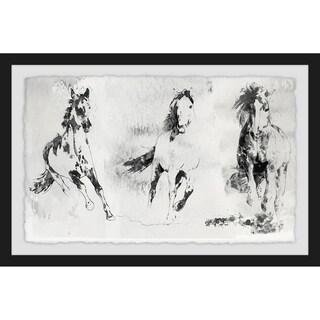 Marmont Hill - Handmade Running Horses 2 Framed Print